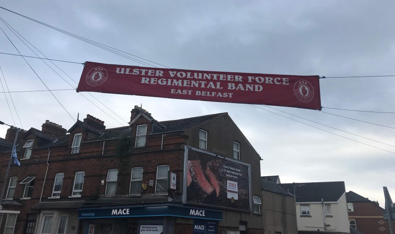 "NEWS: Alliance Party mocked as they label Regimental band banner as ""paramilitary"""
