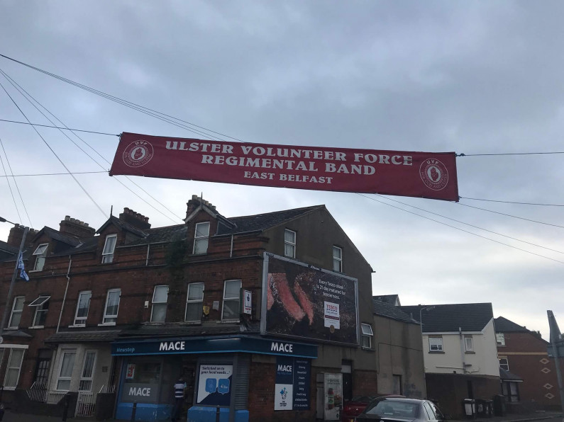 """NEWS: Alliance Party mocked as they label Regimental band banner as """"paramilitary"""""""