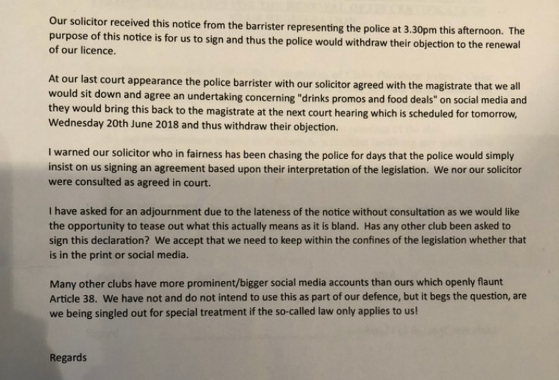 EXCLUSIVE: Leaked email shows PSNI offered secret deal to the republican Felons club
